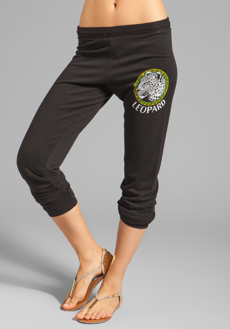 Lauren Moshi Dina Color Leopard Medallion Sweatpant