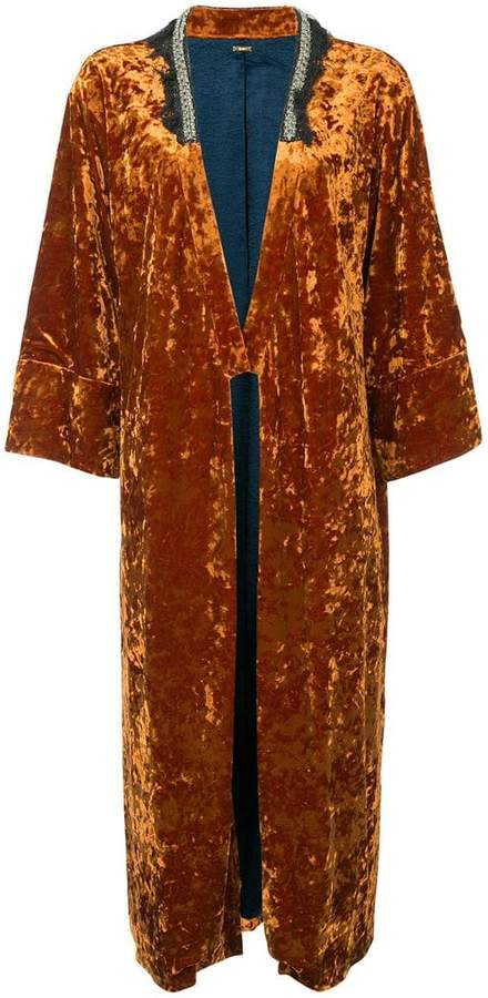 Muller Of Yoshiokubo velvet kimono coat