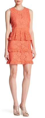 Cynthia Steffe CeCe by Brea Tier Floral Lace Dress