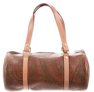 Etro Canvas Paisley Handle Bag