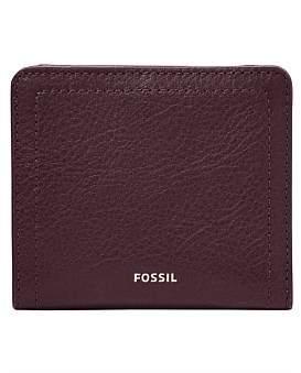 Fossil Logan Purple Small Bifold