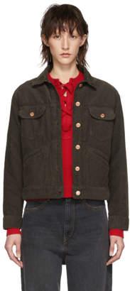 Etoile Isabel Marant Black Corduroy Foftya Jacket