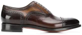 Santoni 6 hole Oxford shoes
