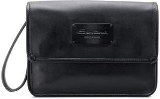Santoni logo embossed clutch bag