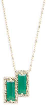 Suzanne Kalan Women's Green Onyx, Diamond and 14K Yellow Gold Pendant Necklace