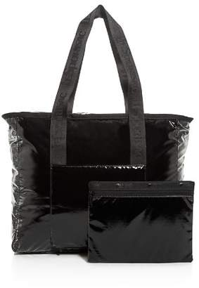 Le Sport Sac Candace North/South Faux Patent Leather Tote