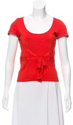 Valentino Bow-Accented Short Sleeve Top