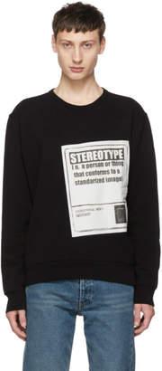Maison Margiela Black Stereotype Sweatshirt