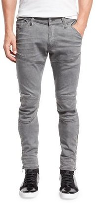 G-Star 5620 3D Super-Slim Ankle-Zip Jeans, Aged Cobler $210 thestylecure.com