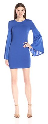 Buffalo David Bitton Women's Bellgirl Bodycon Dress with Flared Bell Sleeves $99 thestylecure.com