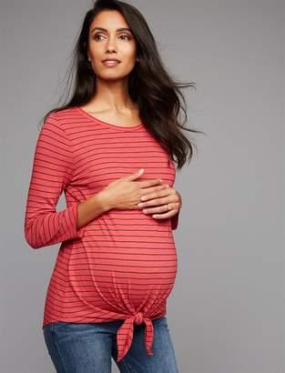 Three Dots Tie Detail Maternity T Shirt