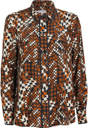 Equipment Leema Houndstooth Crepe Shirt