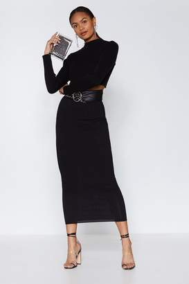 Nasty Gal To the Maxi Ribbed Skirt