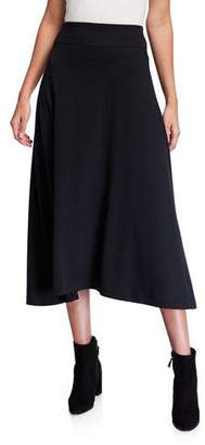 Joan Vass Long Cotton Interlock Skirt
