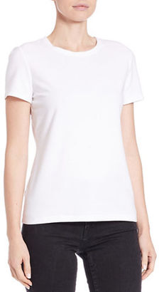 Lord & Taylor Cotton Blend Crewneck Tee $14.95 thestylecure.com