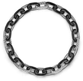 David Yurman Madison Chain Enamel Sterling Silver Necklace