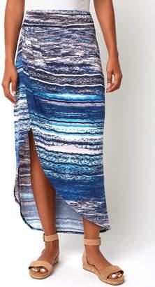 Abbeline Printed Sarong Maxi Skirt