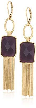 Nine West Women's Gold-Tone and Tassel Drop Earrings