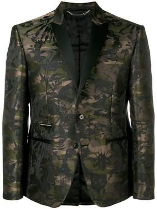 Philipp Plein camouflage brocade blazer