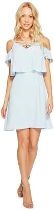 Jessica Simpson Lace-Up Cold Shoulder Dress Women's Dress