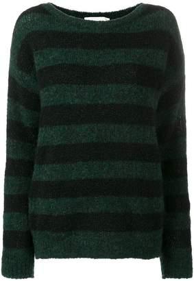 Chiara Bertani horizontal stripe jumper