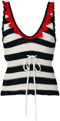 Pinko striped tank top