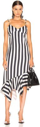 Marques Almeida Marques ' Almeida Slip Peplum Dress in Black & Beige | FWRD