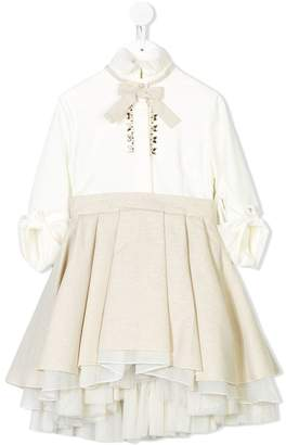 Lapin House pleated full skirt dress