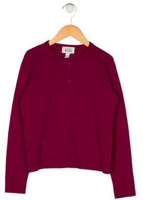 Autumn Cashmere Girls' Wool Button-Up Cardigan