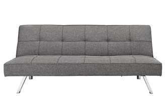 DHP Zoe Convertible Futon Sofa Bed, Linen Upholstery, Grey