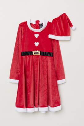 H&M Santa Dress and Hat - Red