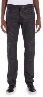 Marcelo Burlon County of Milan Biker-Fit Overdyed Skinny Jeans