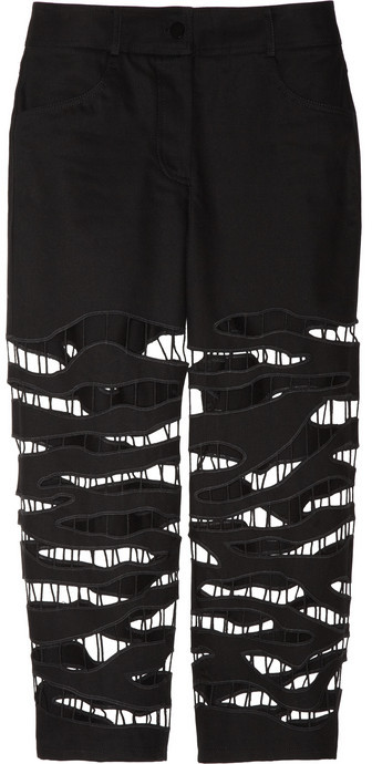 Alexander Wang Cutout cropped low-rise jeans