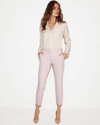 4f8bb0be783a1 Express Petite Slim Fit Satin Portofino Shirt