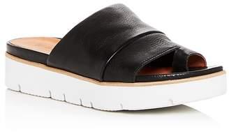 Gentle Souls Women's Lavern Leather Platform Slide Sandals
