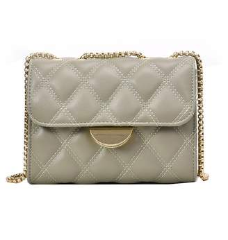 Goodnight Macaroon 'Helina' Quilted Faux Leather Cross Body Chain Bag (2 Colors)