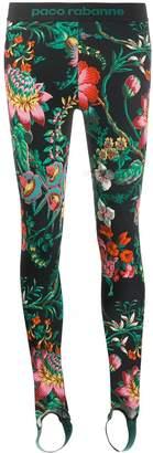 Paco Rabanne floral print stirrup leggings