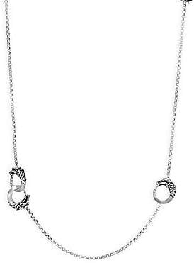 John Hardy Women's Legends Naga Black Spinel & Brushed Silver Round Chain Necklace