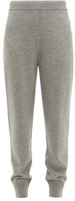 Prada Mid Rise Cashmere Track Pants - Womens - Grey