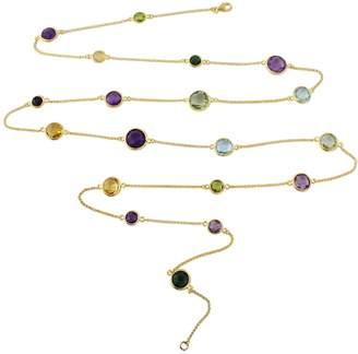 Auree Jewellery - Chennai Multi Gemstone & Gold Vermeil Long Necklace