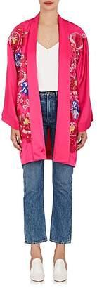 Alice Archer Women's Frances Embroidered Silk Kimono