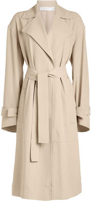 Victoria Beckham Wrap Sleeve Fluid Trench Coat