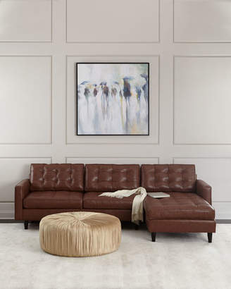 Old Hickory Tannery Barnes Leather Right-Arm Chaise Sectional