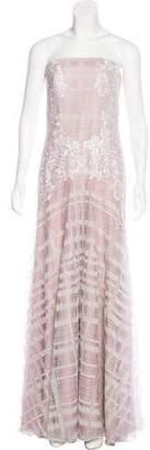 Tadashi Shoji Embroidered Strapless Dress