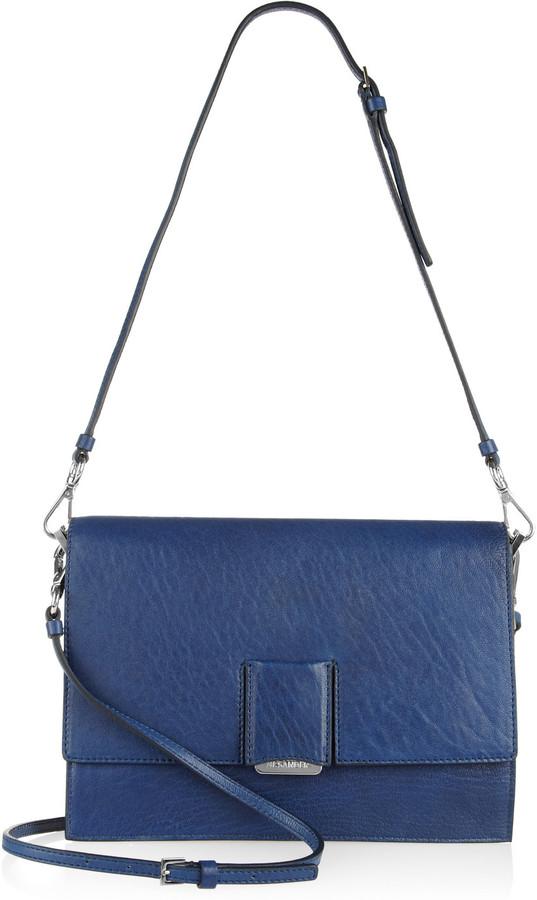 Jil Sander Address grained-leather shoulder bag