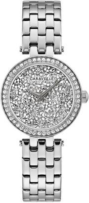 Caravelle Women's Crystal Face Bracelet Watch