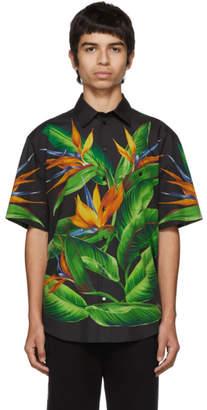 Dolce & Gabbana Black Bird Of Paradise Hawaiian Shirt