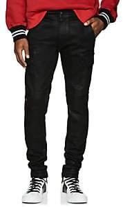 Amiri Men's Coated Denim Cargo Pants-Black