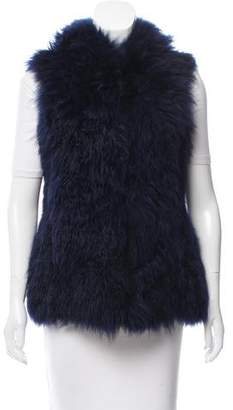 Oscar de la Renta Hooded Fur Vest w/ Tags