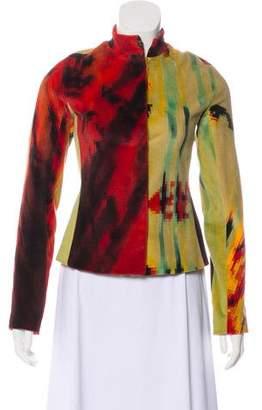 Just Cavalli Velvet Printed Jacket